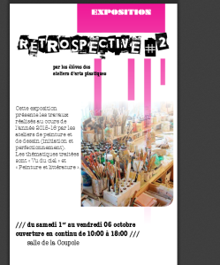 affiche expo coupole ateliers 2015 2016