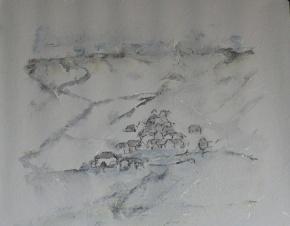 hiver - 53.5 cm x 70 cm